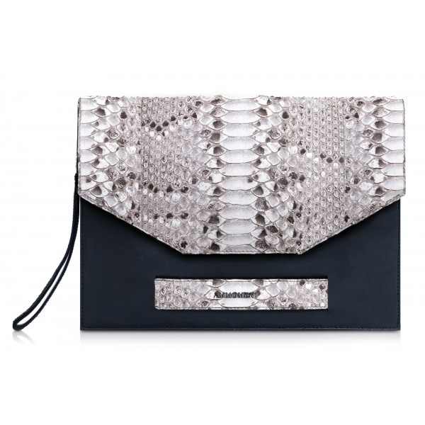Ammoment - Python in Roccia - Leather Pete Clutch Bag