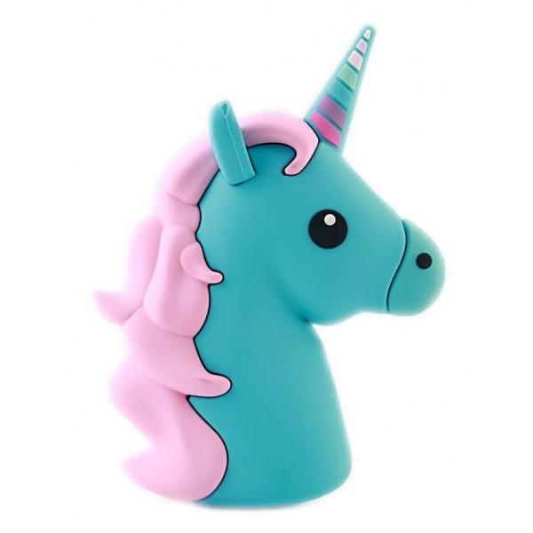 Moji Power - Unicorno Blu - Carica Batteria Portatile ad Alta Capacità Emoji Icon USB - Batterie Portatili - 2600 mAh
