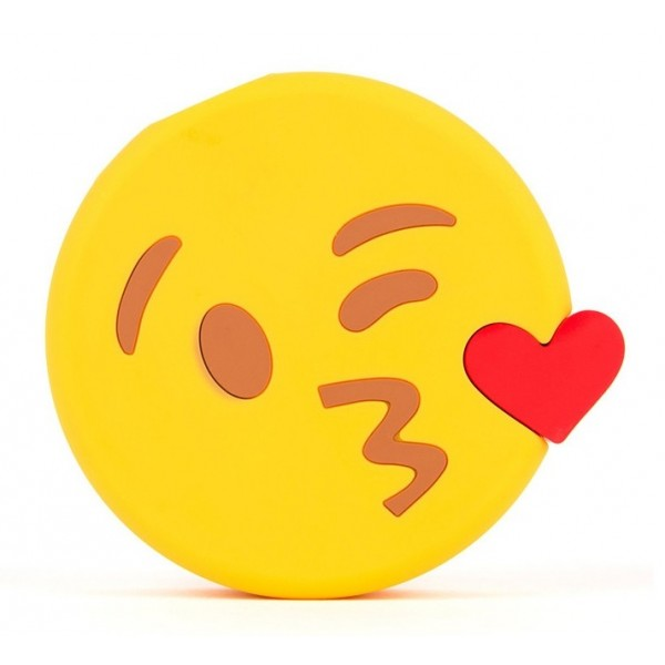 Moji Power - Kissing Wink - High Capacity Portable Power Bank Emoji Icon USB Charger - Portable Batteries - 2600 mAh