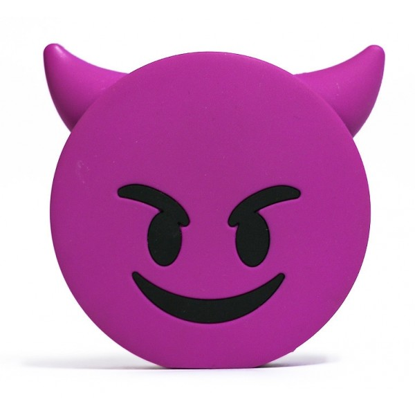 Moji Power - Naughty - High Capacity Portable Power Bank Emoji Icon USB Charger - Portable Batteries - 2600 mAh