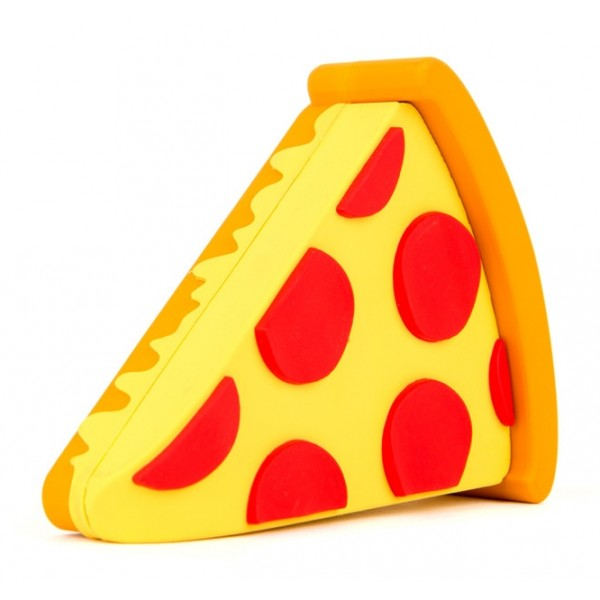 Moji Power - Pizza - High Capacity Portable Power Bank Emoji Icon USB Charger - Portable Batteries - 2600 mAh