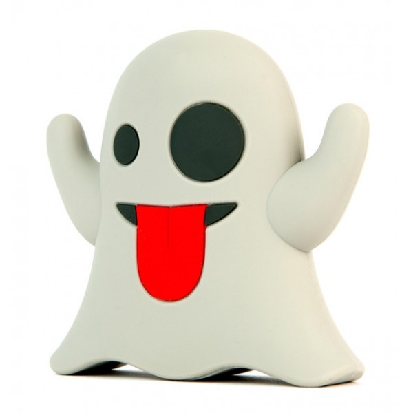 Moji Power - Ghost - High Capacity Portable Power Bank Emoji Icon USB Charger - Portable Batteries - 2600 mAh