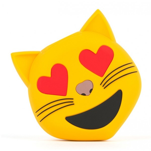 Moji Power - Love Cat - Carica Batteria Portatile ad Alta Capacità Emoji Icon USB - Batterie Portatili - 2600 mAh