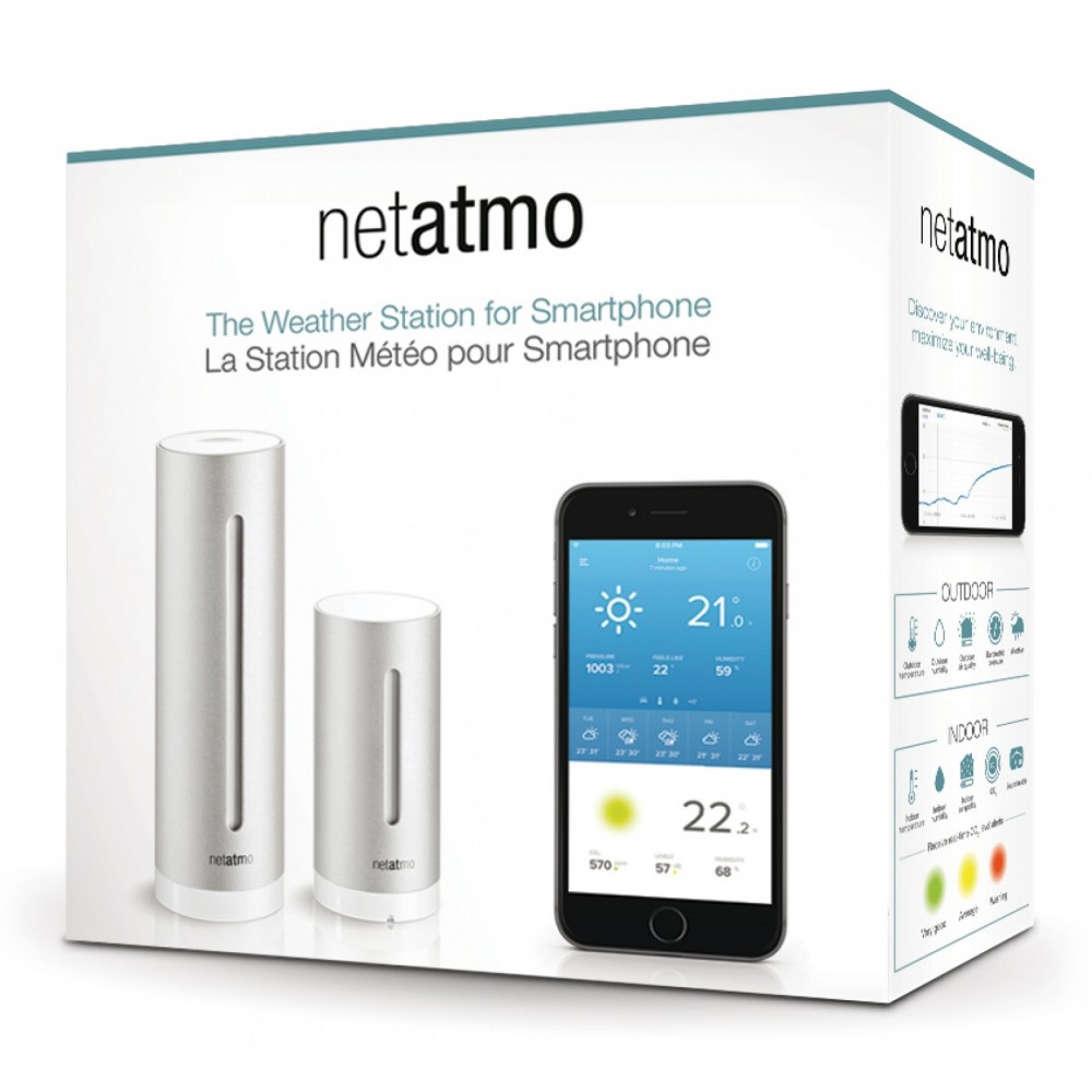 netatmo weather station netatmo for smartphones weather station smart home weather station. Black Bedroom Furniture Sets. Home Design Ideas