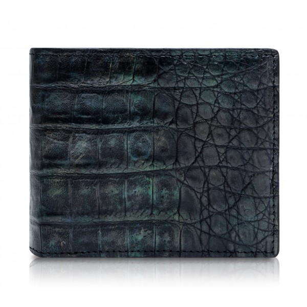 Ammoment - Caiman in Black Northern Light - Leather Bifold Wallet