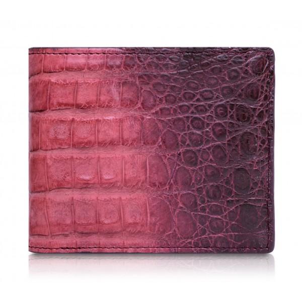 Ammoment - Caiman in Degrade Terracota-Black - Leather Bifold Wallet