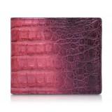 Ammoment - Caimano in Nero Terracotta Antico - Portafoglio Bi-Fold in Pelle