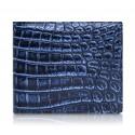 Ammoment - Caimano in Nero Navy Antico - Portafoglio Bi-Fold in Pelle