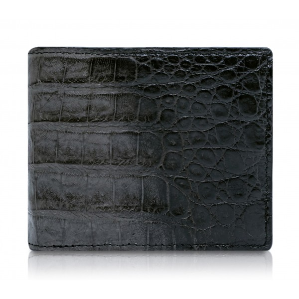 Ammoment - Caiman in Degrade Coal New Age - Leather Bifold Wallet