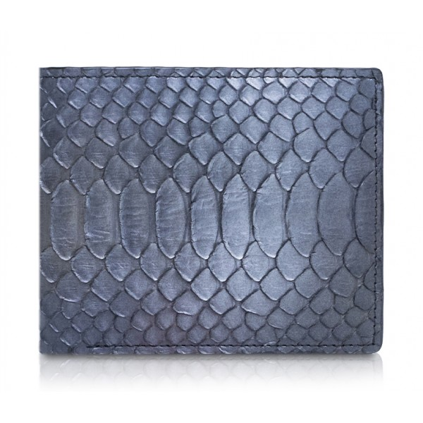 Ammoment - Python in Calcite Grey - Leather Bifold Wallet