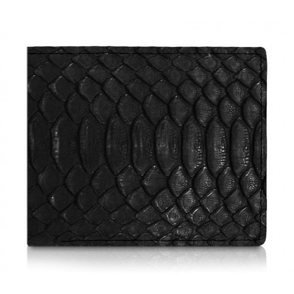 Ammoment - Python in Black - Leather Bifold Wallet