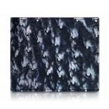 Ammoment - Struzzo in Nero Perla di Tahiti - Portafoglio Bi-Fold in Pelle