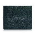 Ammoment - Razza in Glitter Verde Metallico - Portafoglio Bi-Fold in Pelle