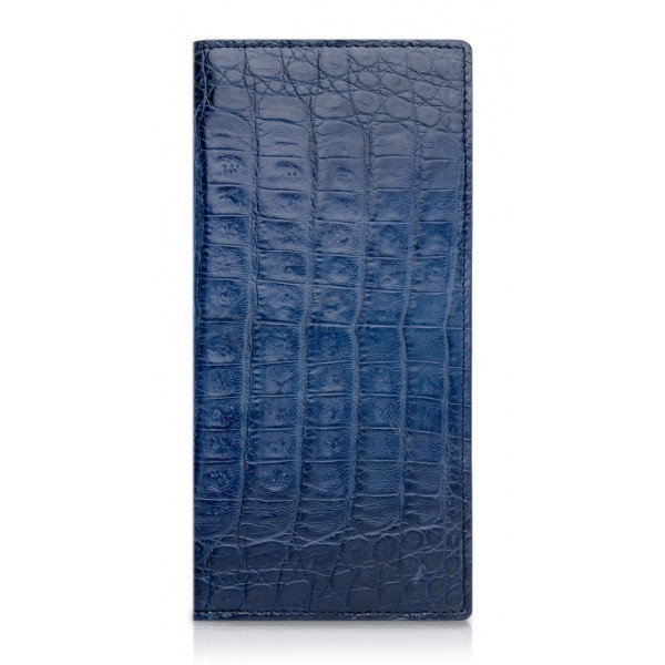 Ammoment - Caiman in Degrade Navy-Black - Leather Breast Wallet