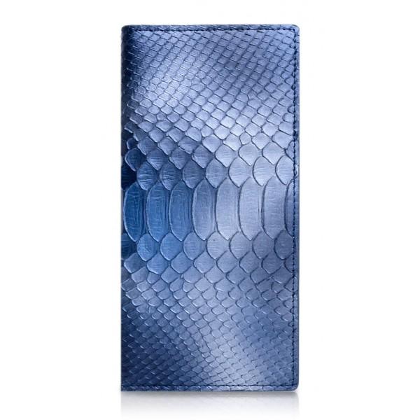 Ammoment - Pitone in Calce Blu - Portafoglio a Petto in Pelle