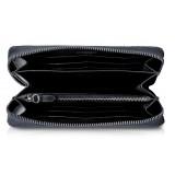 Ammoment - Pitone in Nero - Portafoglio Zip Lunga in Pelle