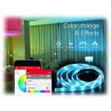 MiPow - PlayBulb Comet - Striscia di Luci Decorative Smart Led a Colori Bluetooth - Illuminazione Decorativa Smart Home - 2 mt