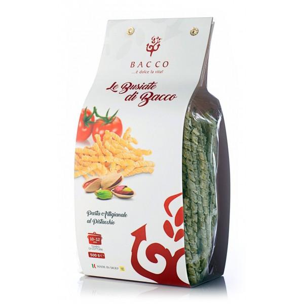 Bacco - Tipicità al Pistacchio - La Brontese - Pasta Busiate al Pistacchio - Pasta al Pistacchio di Bronte - 500 g