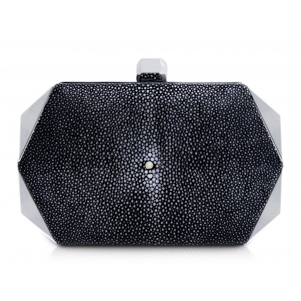 Ammoment - Stingray in Black - Minaudiere - Leather Bag