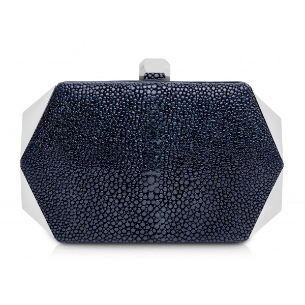 Ammoment - Stingray in Glitter Metallic Green - Minaudiere - Leather Bag