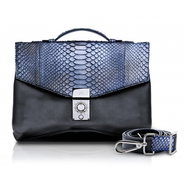 Ammoment - Python in Calcite Grey - Leather Briefcase -  Orion Business Bag