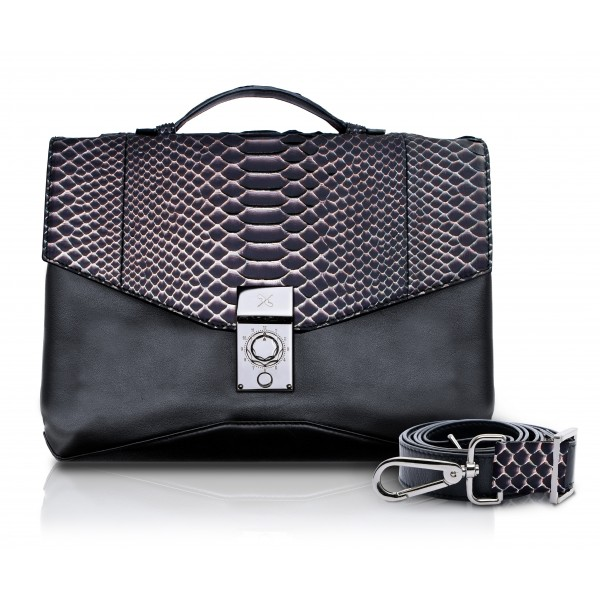 Ammoment - Pitone in Rosa Pepita - Ventiquattrore in Pelle - Orion Business Bag