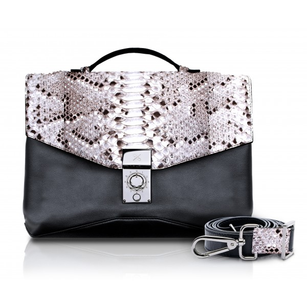 Ammoment - Python in Roccia - Leather Briefcase - Orion Business Bag