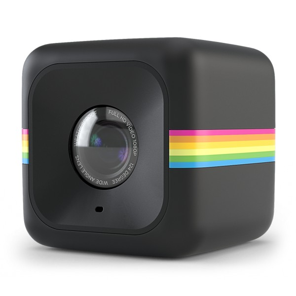Polaroid - Polaroid Cube+ Wi-Fi Mini Lifestyle Action Camera - Full HD 1440p - Action Sports Cameras - Black