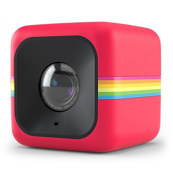 Polaroid - Polaroid Cube+ Wi-Fi Mini Lifestyle Action Camera - Full HD 1440p - Action Sports Cameras - Red