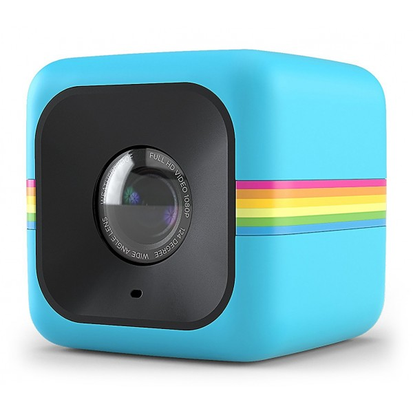 Polaroid - Polaroid Cube+ Live Streaming Wi-Fi Mini Lifestyle Action Camera - Full HD 1440p - Action Sports Cameras - Blue