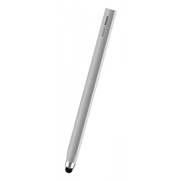Adonit - Adonit Mark Stylus Pen for iPad/iPhone/Touchscreen - Silver - Touch Pen - Classic