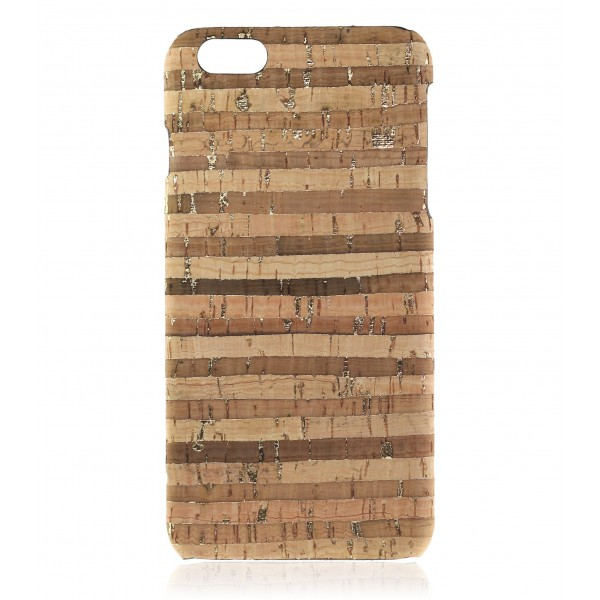 2 ME Style - Cover Sughero Gold Striped - iPhone 8 Plus / 7 Plus - Cover in Sughero