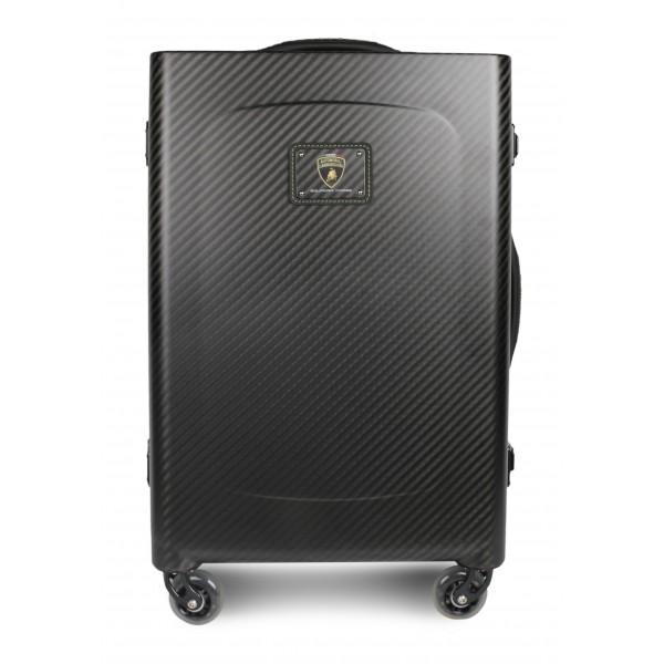 TecknoMonster - Lamborghini Squadra Corse - Sinossi Cabin Big Racing Team - Aeronautical Carbon Fibre Trolley Suitcase