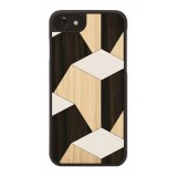 Wood'd - Pyramid Cover - iPhone 8 / 7 - Cover in Legno - Abstract Pattern Collection