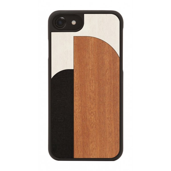 Wood'd - Inlay Black Cover - iPhone 8 / 7 - Cover in Legno - Abstract Pattern Collection