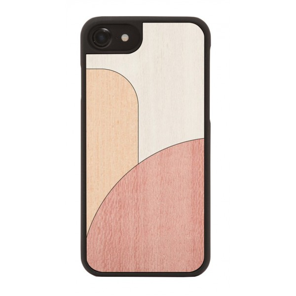 Wood'd - Inlay White Cover - iPhone 8 / 7 - Cover in Legno - Abstract Pattern Collection
