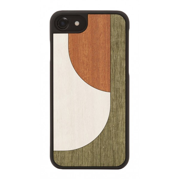 Wood'd - Inlay Brown Cover - Samsung S8 - Wooden Cover - Abstract Pattern Collection
