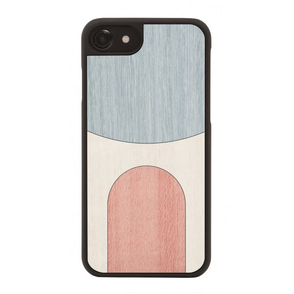 Wood'd - Inlay Light Blue Cover - Samsung S8+ - Wooden Cover - Abstract Pattern Collection