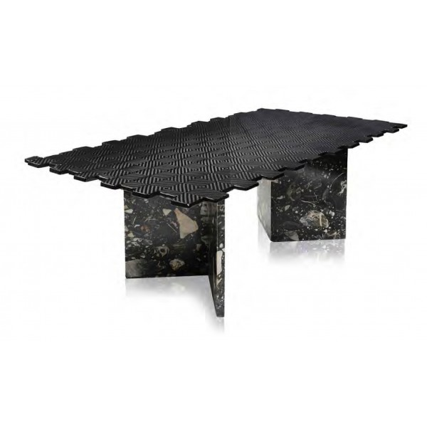 TecknoMonster - Kagrande Mignon TecknoMonster - Aeronautical Carbon Fiber Board and Double Marble Base Table
