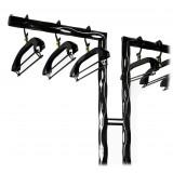 TecknoMonster - FormaT + 6 Echein Coat Hangers TecknoMonster - Sistema Porta Abiti in Fibra di Carbonio Aeronautico