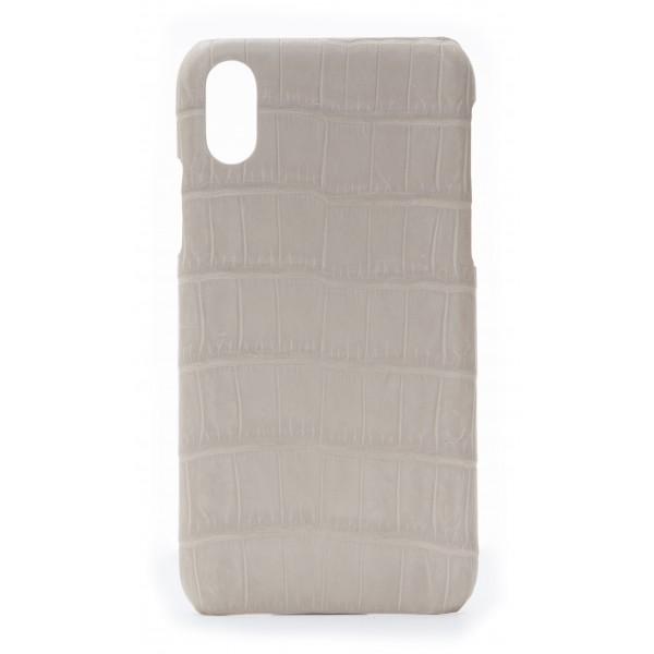2 ME Style - Cover Croco Beige - iPhone X - Cover in Pelle di Coccodrillo