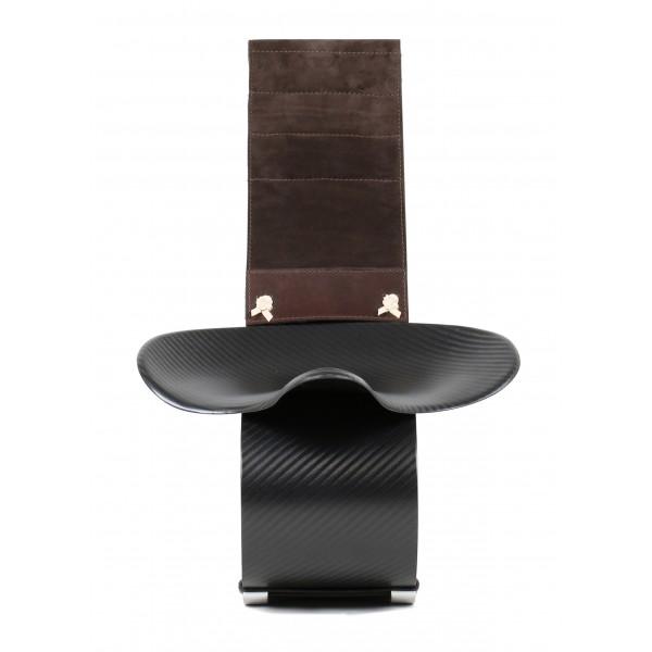 TecknoMonster - Ops TecknoMonster - Mini Seduta in Fibra di Carbonio Aeronautico e Pelle Scamosciata