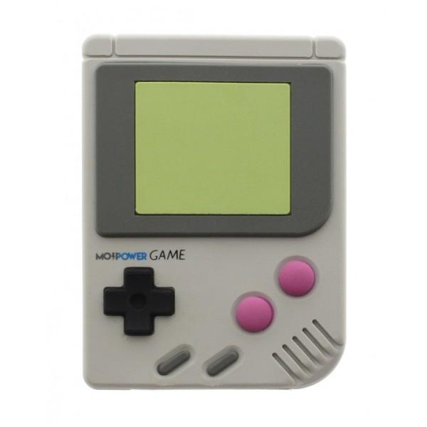 Moji Power - Mojigame - Game Boy - High Capacity Portable Power Bank Emoji Icon USB Charger - Portable Batteries - 2600 mAh