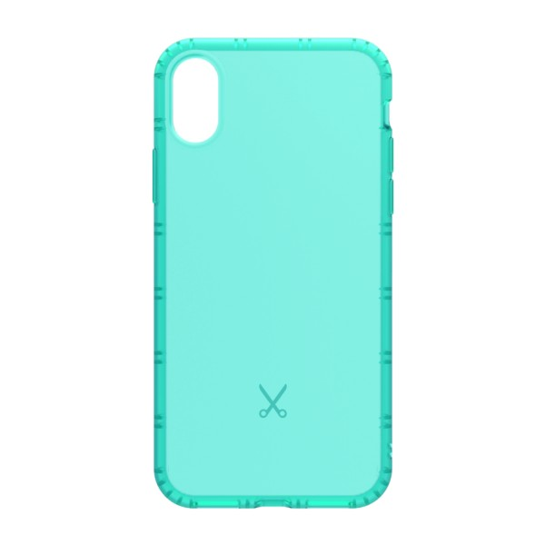 Philo - Cover Airshock Resistente agli Urti per Apple - Cover Airshock - Azzurro - iPhone X