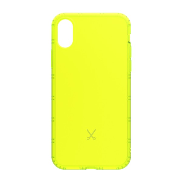 Philo - Shock Resistant Airshock Case for Apple - Airshock Cover - Yellow - iPhone X