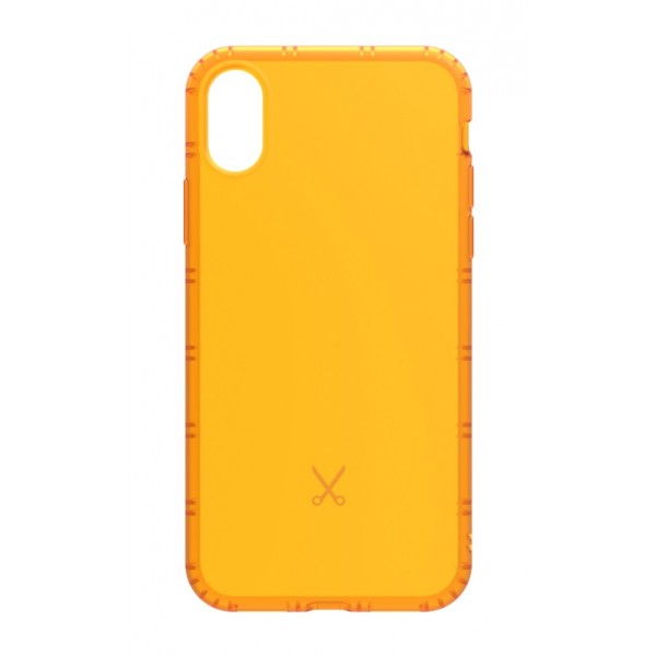 Philo - Cover Airshock Resistente agli Urti per Apple - Cover Airshock - Arancione - iPhone X