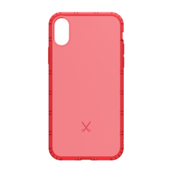 Philo - Cover Airshock Resistente agli Urti per Apple - Cover Airshock - Rosso - iPhone X