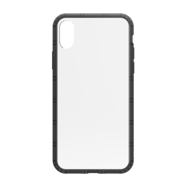 Philo - Cover Protettiva in Gomma Supersottile Antiscivolo per iPhone - Cover Slimbumper - Bumper Cover - Nera - iPhone X