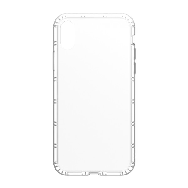 Philo - Cover Protettiva in Gomma Supersottile Antiscivolo per iPhone - Cover Slimbumper - Bumper Cover - Bianco - iPhone X