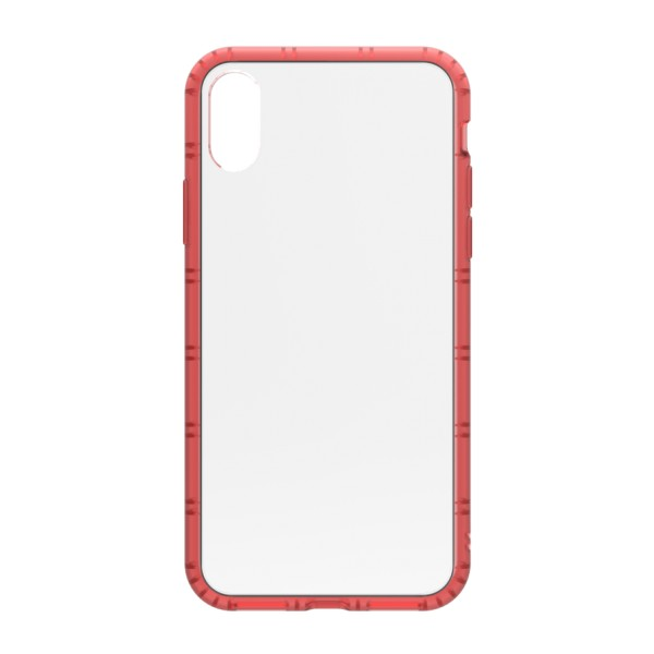 Philo - Rubber Edge and Anti Scratch Bumper Case for iPhone - Slimbumper Case - Bumper Cover - Red - iPhone X